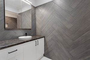 Herringbone Tiled Feature Wall
